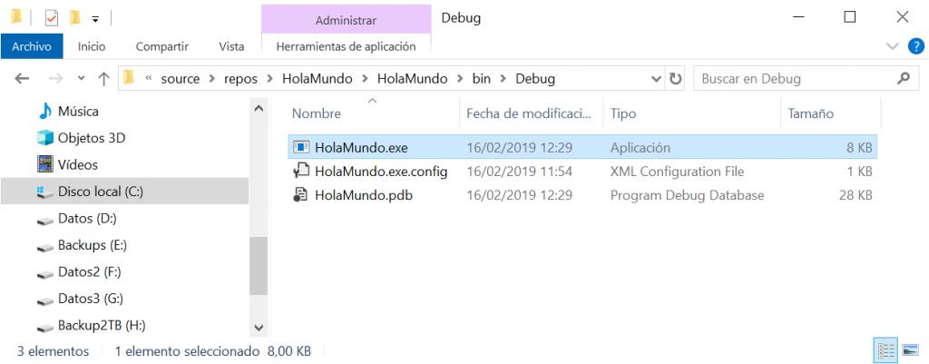 Mi primera aplicación Visual Studio Community 2017 en Visual C# Hola Mundo