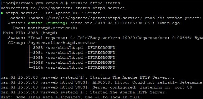 Actualizar versión de Apache en Linux CentOS 7 a la última versión