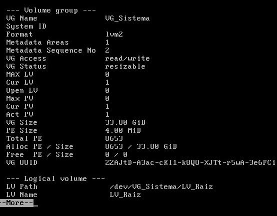 Obtener información adicional del volumen en Linux Red Hat