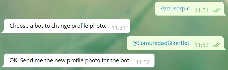 Cambiar o establecer foto de perfil del bot