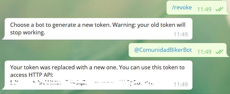 Cambiar el token de un bot de Telegram