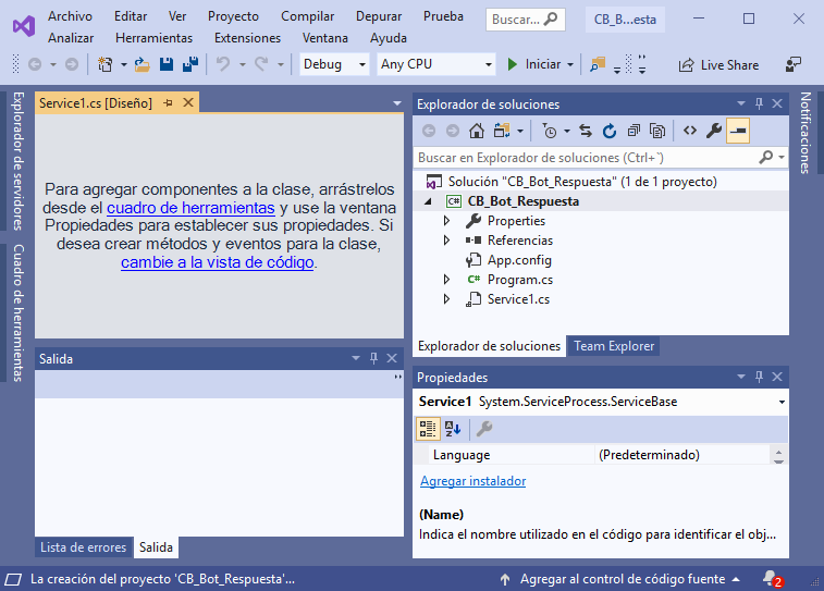 Crear aplicación completa de servicio Windows con .Net C# C Sharp