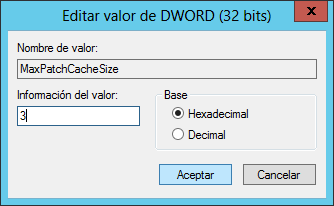 Desactivar el uso de la carpeta $PatchCache$ para que no aumente de tamaño en Windows