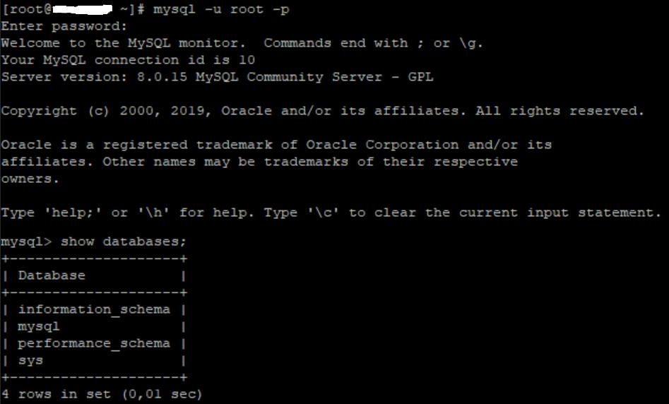 Restablecer resetear contraseña usuario root de MySQL 8 en Linux CentOS 7