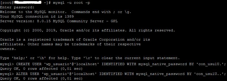 Solucionar error al establecer conexión con MySQL 8 desde WordPress
