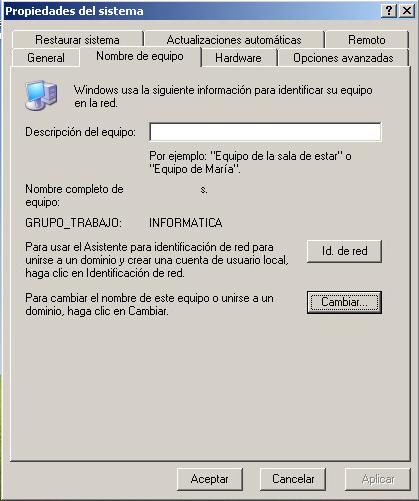 Agregar equipo Windows XP a dominio Active Directory