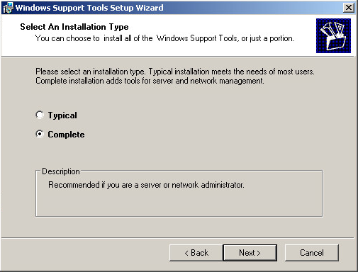 Instalar Windows Support Tools para Microsoft Windows XP Professional