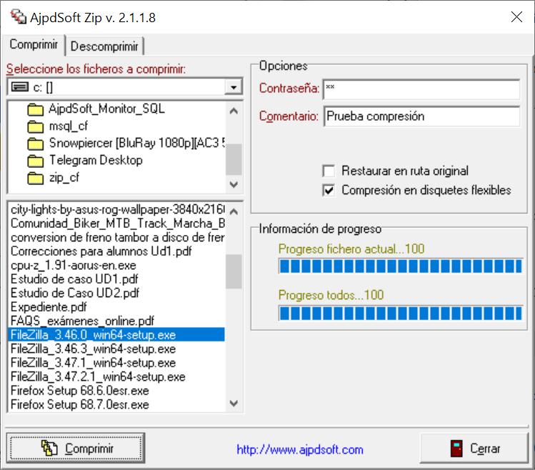 AjpdSoft ZIP Código Fuente Delphi