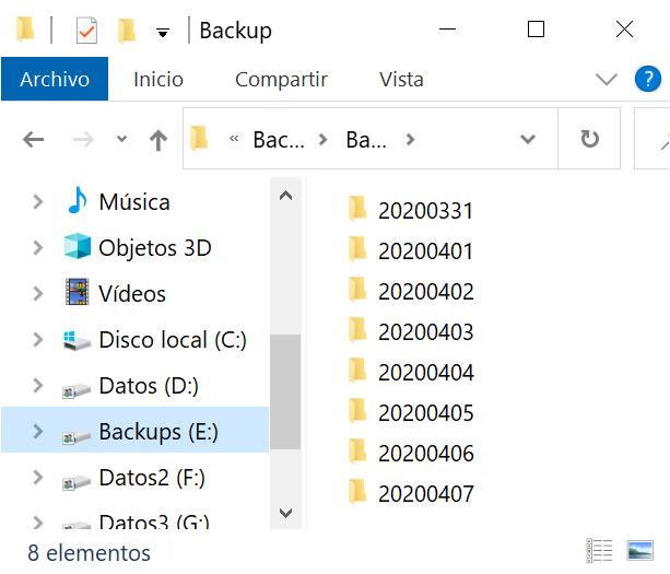 Programación de tarea para ejecutar diariamente la copia de seguridad en Windows