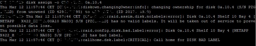 Proceso para sustituir el disco duro averiado por uno nuevo o reciclado en una SAN NetApp
