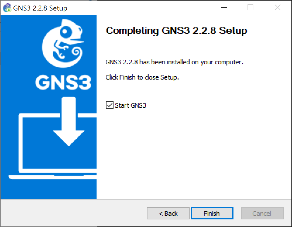 Descarga e instalación de GNS3 en equipo Windows