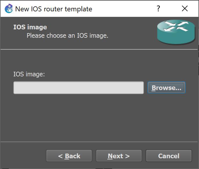 Instalar router de la serie C7200 de Cisco en GNS3 con versión de IOS 15.2