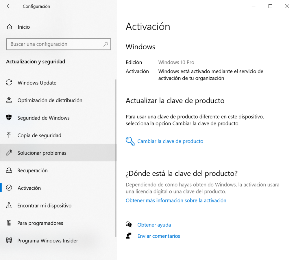 Activar Windows en modo licencia digital