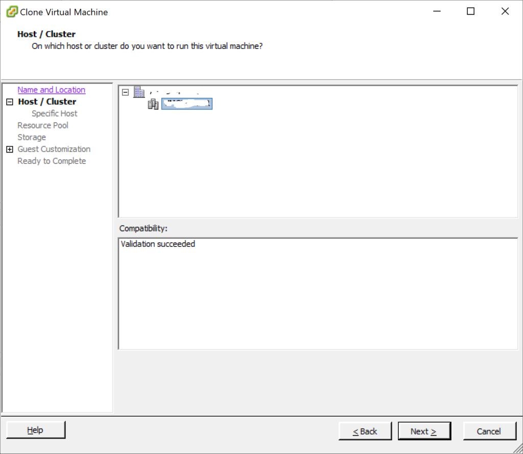 Clonar máquina virtual en VMware vCenter