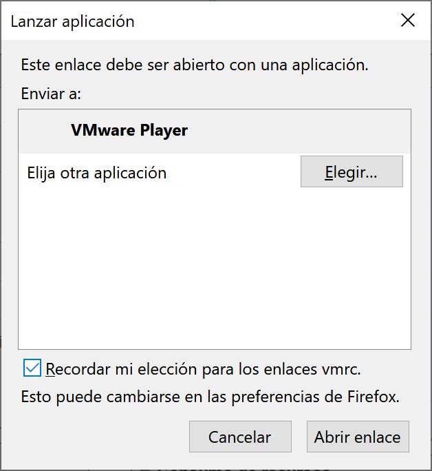 Abrir consola de máquina virtual con VMware Player (VMRC o WMware Workstation 15 Player) desde VMware vSphere Web Client