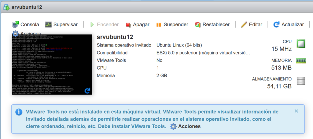 Requisitos para instalar las VMware Tools en Linux Ubuntu Server 12