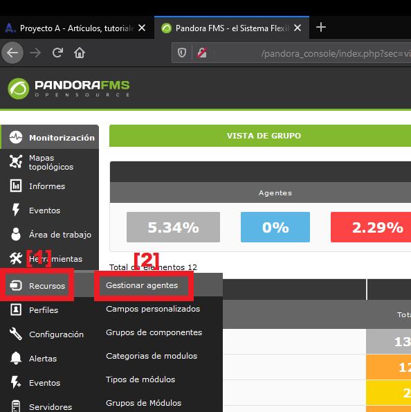 Agregar dispositivo firewall Sophos XG en Pandora FMS como agente para su monitorización