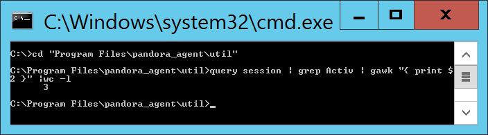 Probar comando para obtener únicamente el número de usuarios conectados a un equipo Windows mediante Escritorio Remoto o Terminal Server