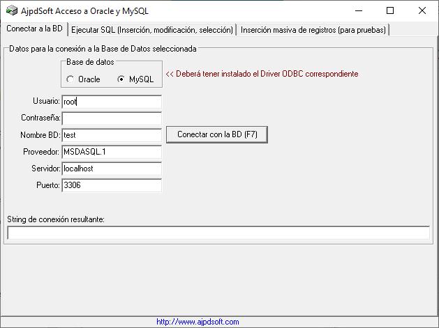 AjpdSoft Acceso a Oracle y MySQL Código Fuente Delphi 6