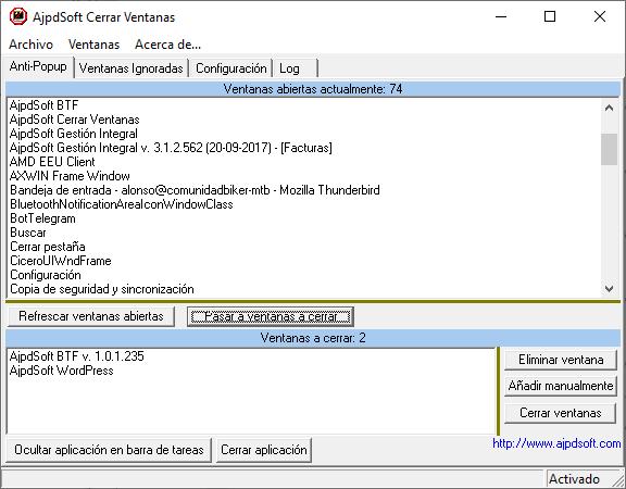 AjpdSoft Cerrar Ventanas Código Fuente en Delphi 6