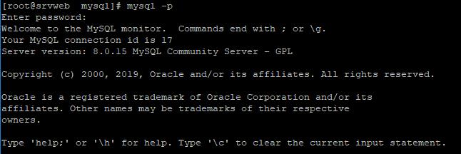 Acceso a MySQL Server desde la línea de comandos