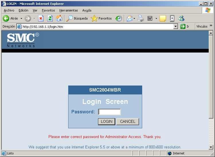 Configurar la conexión a Internet mediante línea ADSL y router en un equipo con Microsoft Windows XP