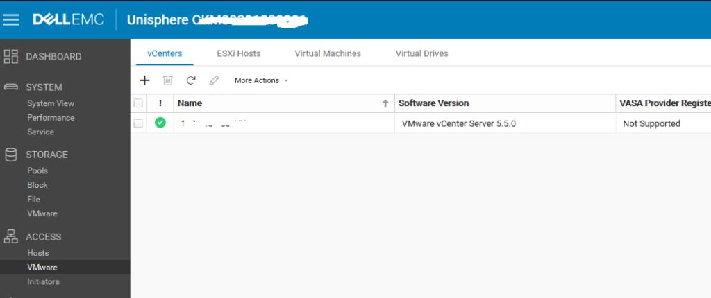 Alta de host ESXI en SAN Dell EMC Unity