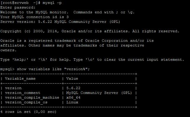 Comprobar versión actual de MySQL Server en Linux