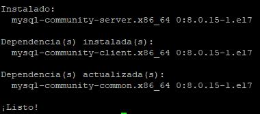 Instalar MySQL Server 8 en Linux CentOS 7
