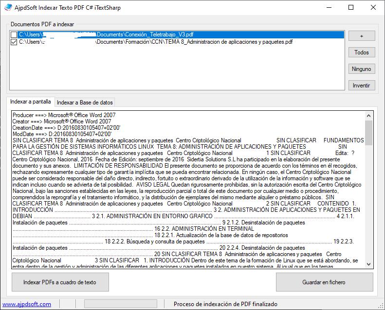 Extraer texto y metadatos de fichero PDF con Visual C# .Net y iTextSharp