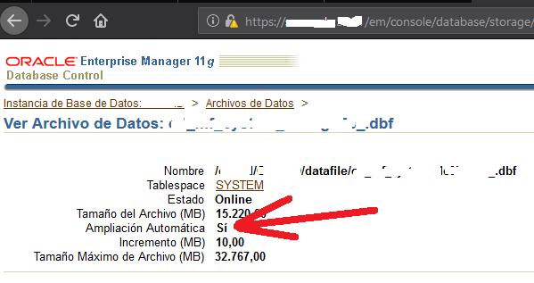 El tablespace SYSTEM de Oracle se llena | Motivos | Crecimiento excesivo | Para qué sirve