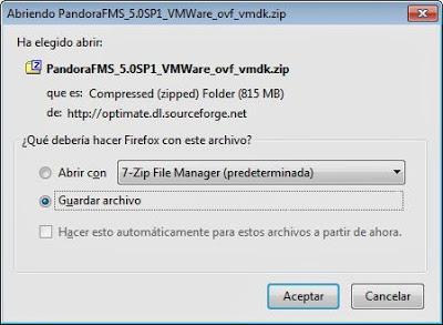 Descargar e instalar Pandora FMS como máquina virtual ESX o Workstation