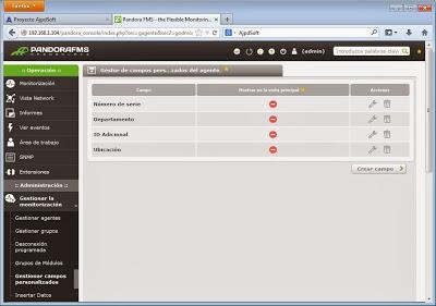 Otras personalizaciones y configuraciones de Pandora FMS