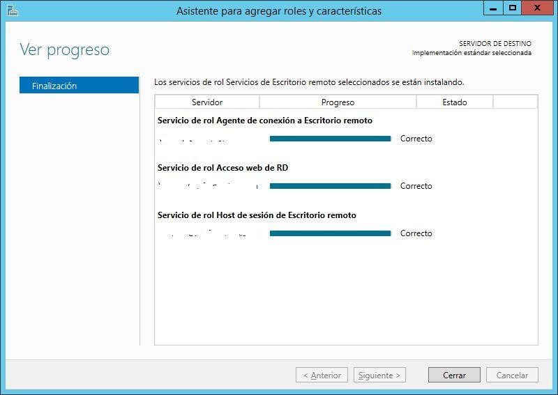 Instalar rol de Escritorio Remoto con RemoteApp en Windows Server 2012 R2