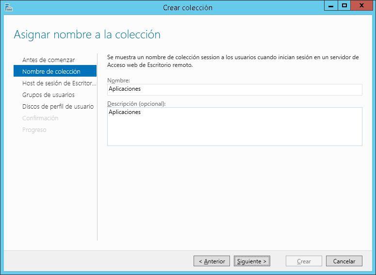 Configuración inicial de Servicios de Escritorio remoto, publicar aplicaciones
