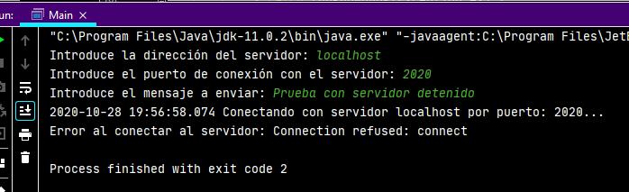 Aplicación Cliente que usa Socket y conecta con el Servidor y envía un texto al Servidor