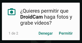 Instalar aplicación DroidCam en el móvil Android