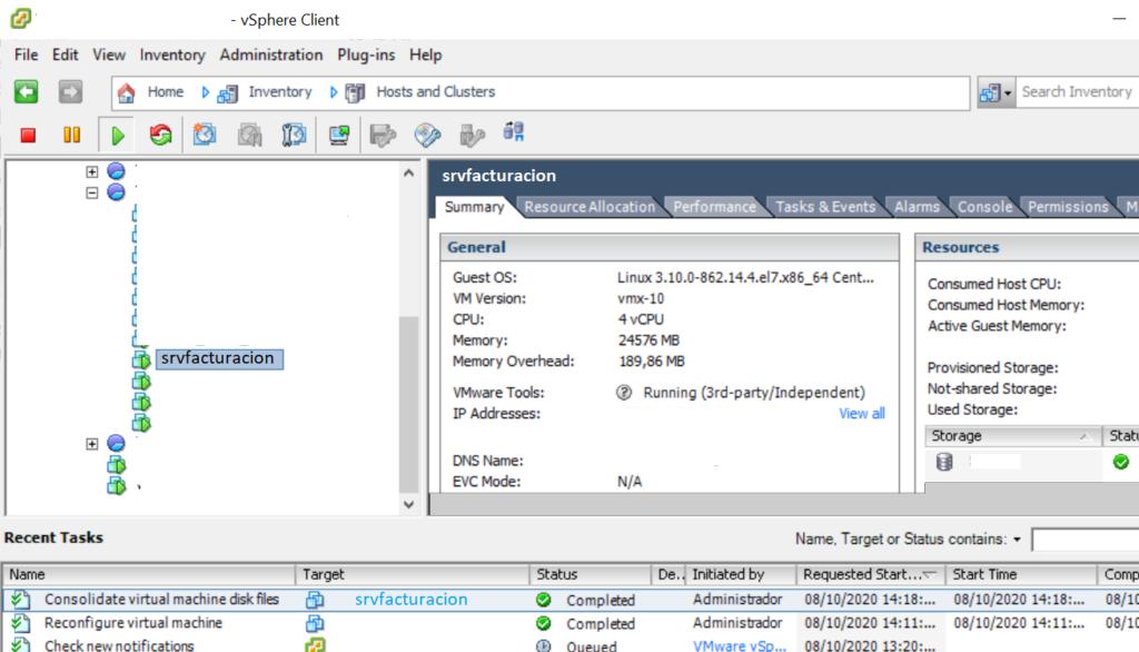 Resolver problema de bloqueo de disco de máquina virtual en VMware ESXi msg.fileio.lock