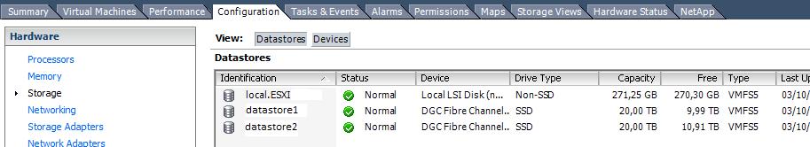 Comprobar espacio usado y disponible en SAN Dell EMC Unisphere