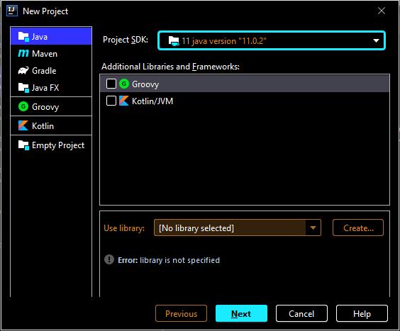 Crear proyecto Java de aplicación de consola en IntelliJ IDEA