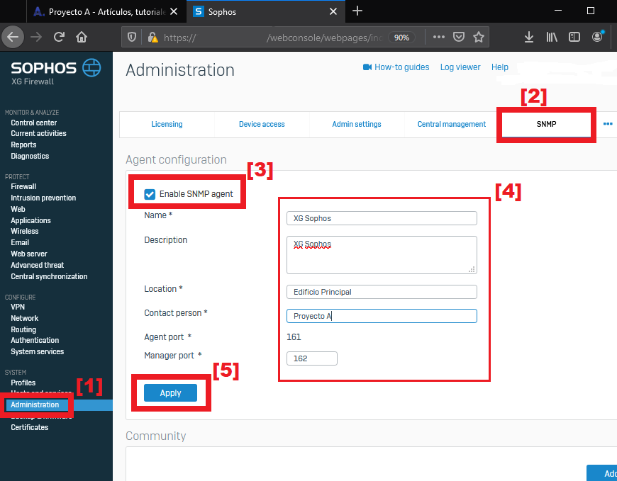 Monitorizar firewall XG Sophos con Pandora FMS y SNMP