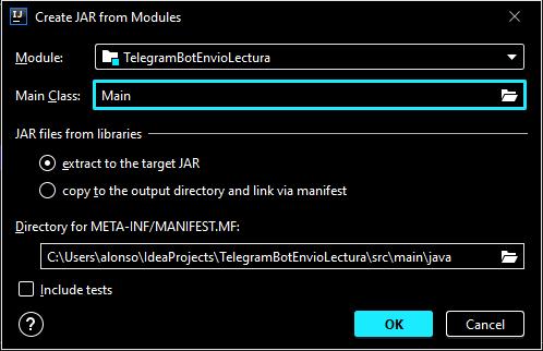 Generar fichero ejecutable Java JAR para probar en Windows o Linux