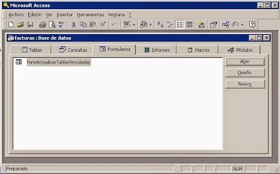 Probar formulario para readjuntar (modificar vínculo DSN ODBC) tablas en Access