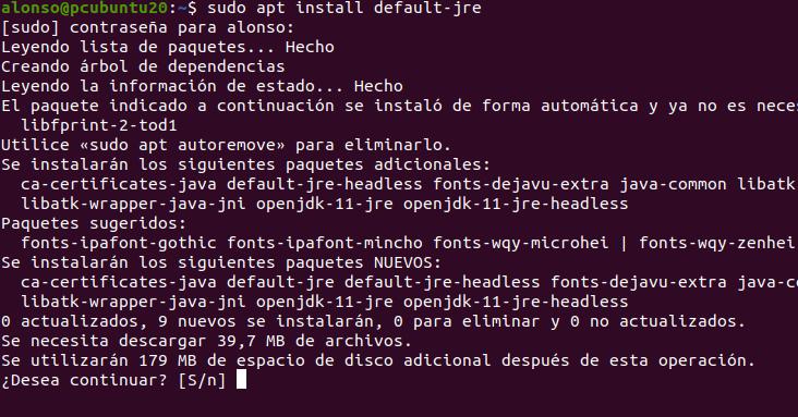 Probando aplicación JavaFX con entorno gráfico en equipo Linux Ubuntu 20