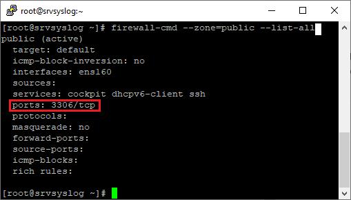 Abrir un número de puerto o un servicio en un cortafuegos firewalld Linux CentOS 8