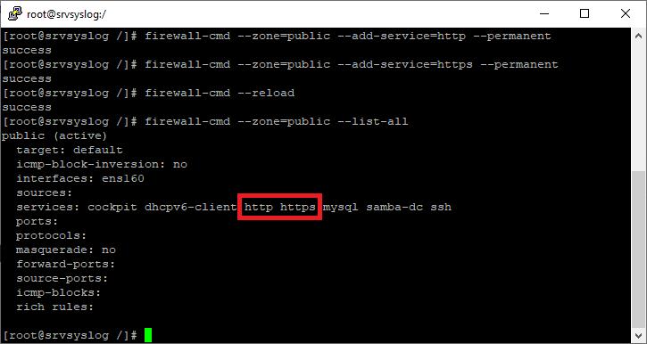 Abrir o permitir un servicio en firewalld de Linux