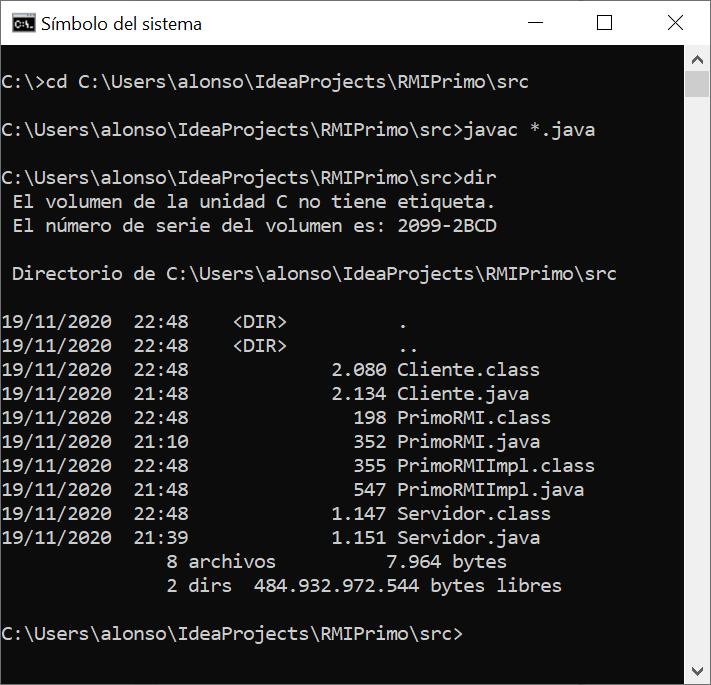 Compilar los .java para generar los .class