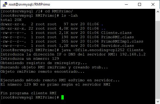 Aplicación Java RMI que invoca un método remoto en el servidor y recibe el resultado en el cliente Código Fuente Java con IntelliJ IDEA
