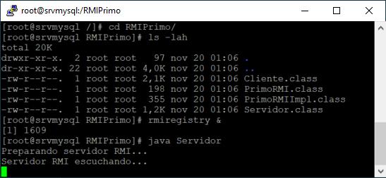 Ejecutar aplicación Servidor RMI en equipo Linux y Cliente RMI en equipo Windows
