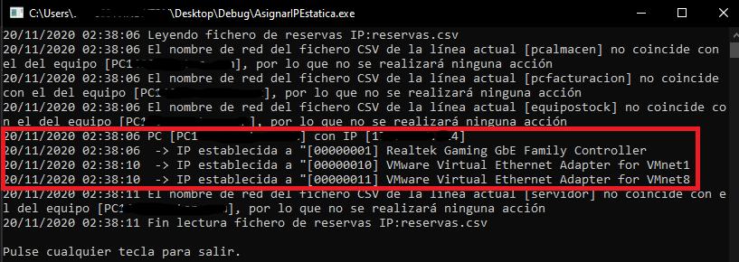 Aplicación en C# C Sharp con Visual Studio .Net que establece configuración de red estática y desactiva IPv6